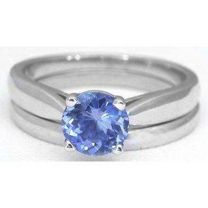 Solitaire 3.00 carat CEYLON sapphire ring 14k new